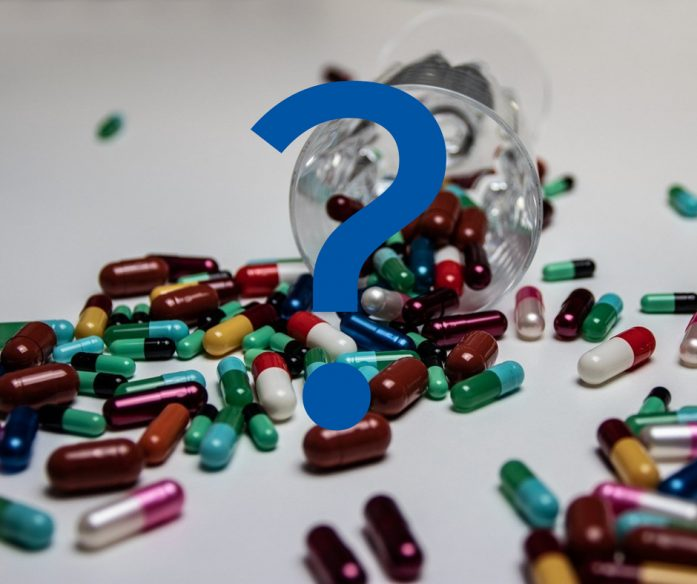Question Mark on top of Pills